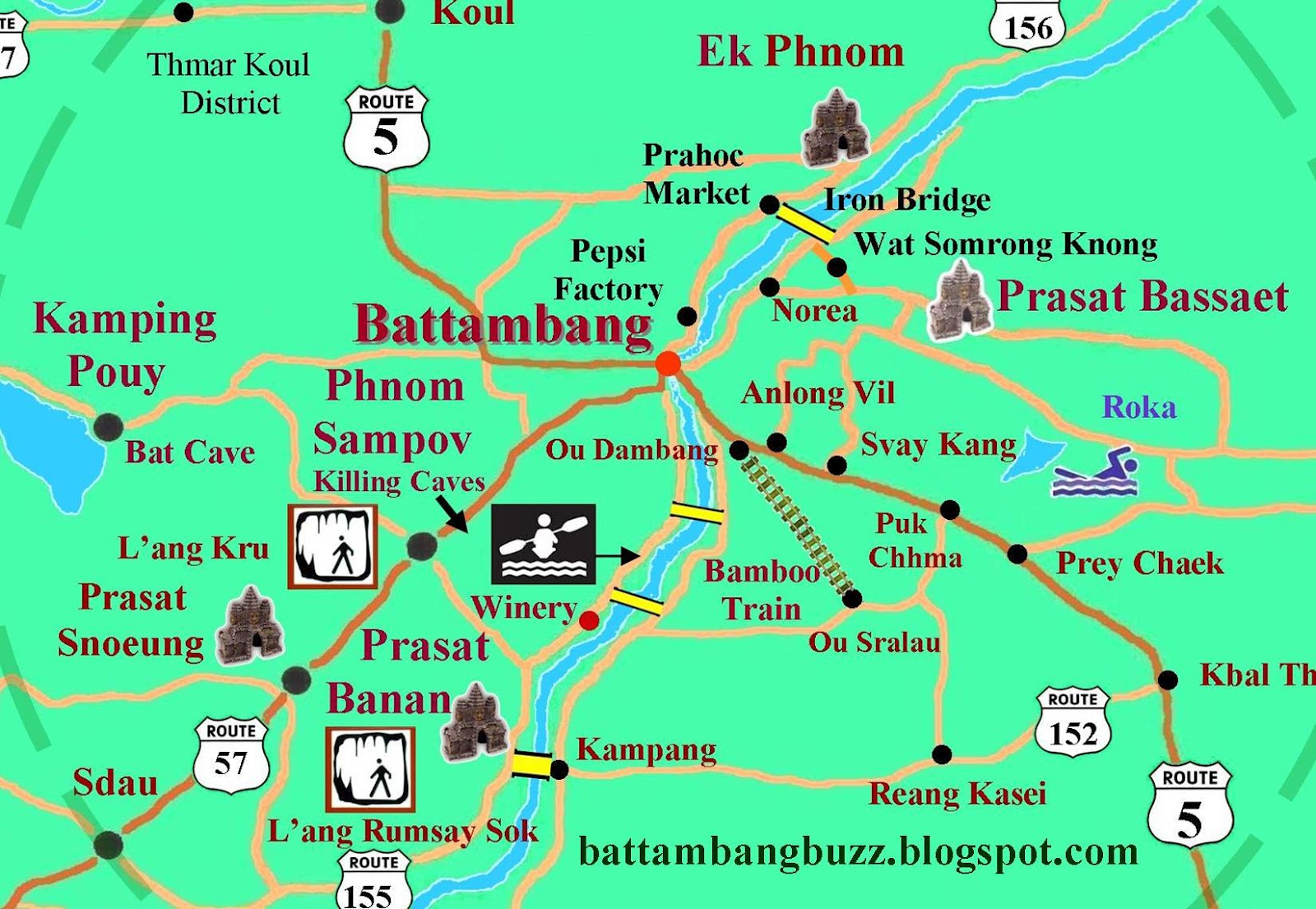 SMILE TOURS SERVICE smiletoursvietnam – Cambodia Tourist Attractions Map