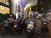 Evening food tour by motorcycle in Saigon: 6:00 pm – 11:00pm: